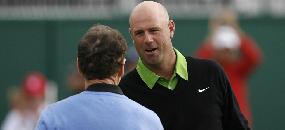 Stewart Cink Given Topless Cart to Work on Head Tan?