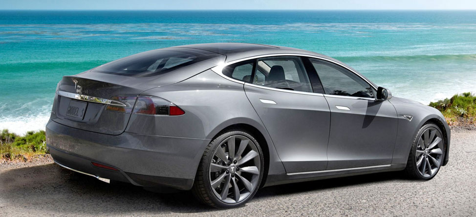 Ryan Moore Riding in Style With 2013 Model S Tesla