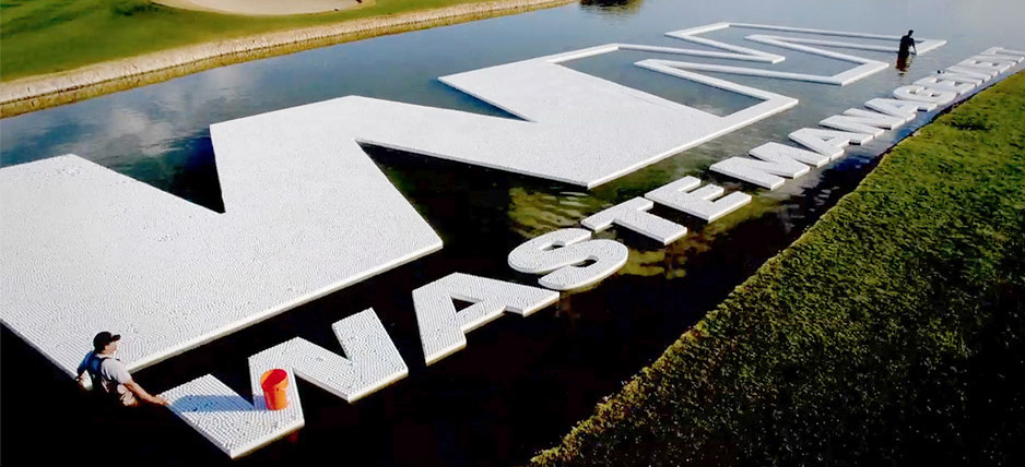 Watch 140,000 Golf Balls Become an Awesome Floating Logo