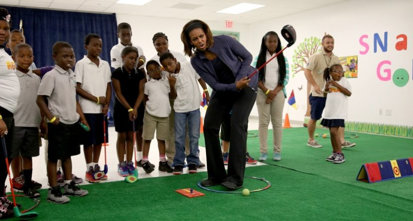 Michelle Obama Teams with SNAG Golf to Get Kids Healthy