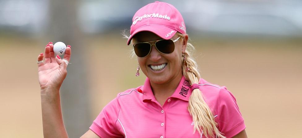 Natalie Gulbis Mixes Golf With Baseball