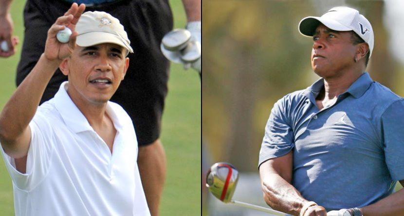 President Obama, Ahmad Rashad Hit The Links