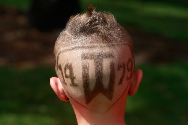 TW logo shaved on boys head 600