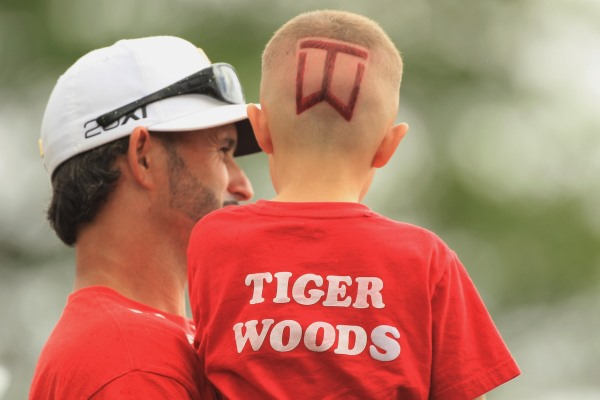 Tiger fan and son 600