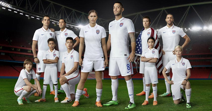 U.S. Soccer Team Unveils Nike Golf Shirt Jerseys