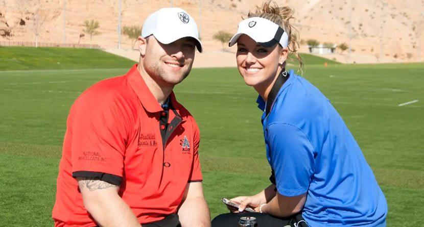 Amputee Jared Brentz Drives More Than Golf Balls