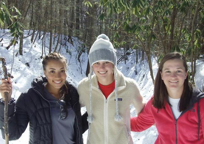 Teammates in the Snow