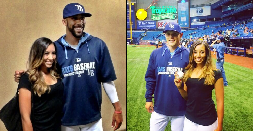 Cheyenne Woods Throws Out 1st Pitch at Tampa Bay Rays Game