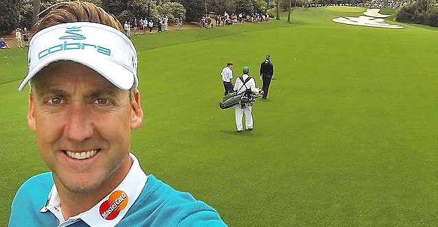 Ian Poulter Takes Selfie on Augusta's 10th