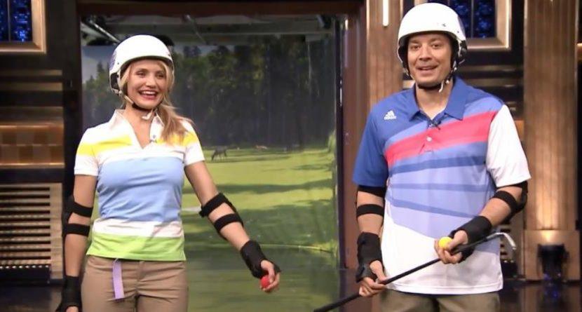 Jimmy Fallon, Cameron Diaz Play Hilarious Round of Roller Golf