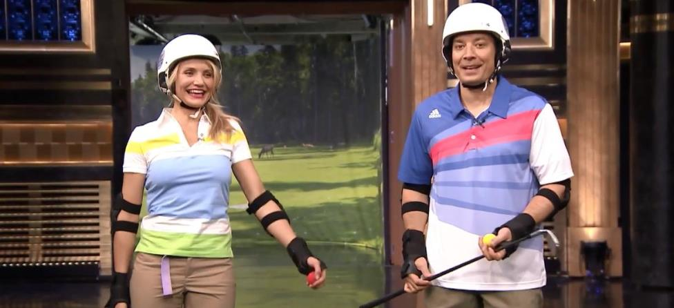 Jimmy Fallon, Cameron Diaz Play Hilarious Round of Roller Golf