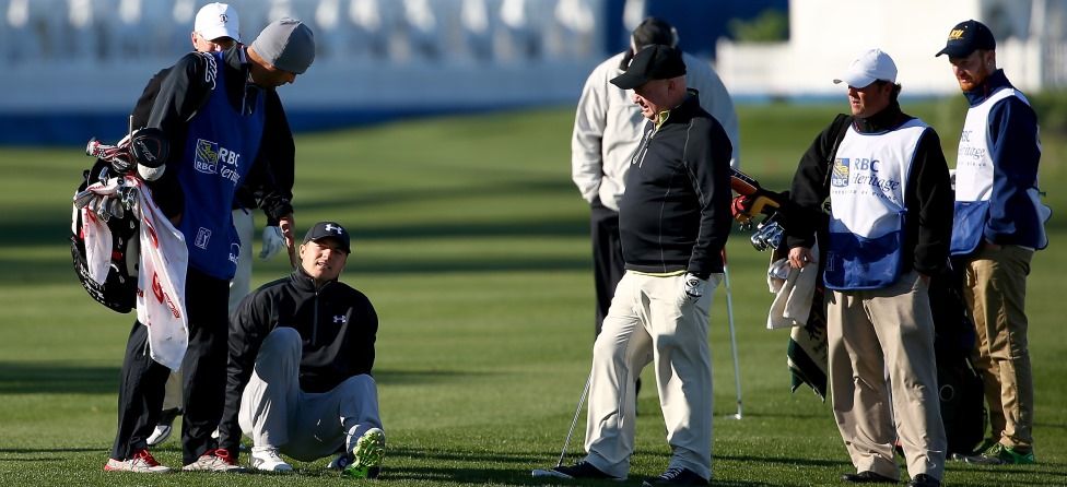 Jordan Spieth Gets Pelted By Errant Shot From Amateur
