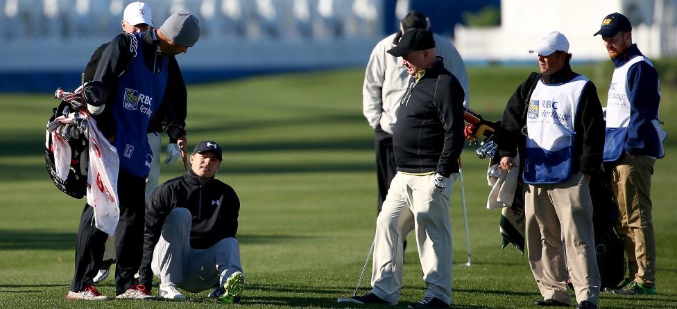 Jordan Spieth Gets Pelted By Errant Shot From Amateur