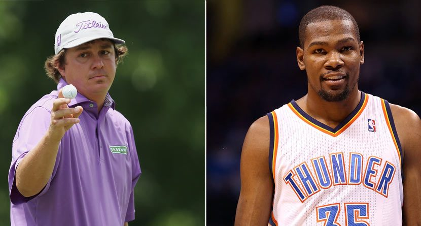 Jason Dufner Rocks Kevin Durant VIs at Augusta