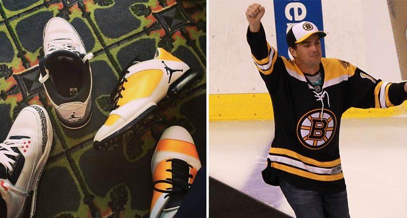 Keegan Bradley Rocks Bruins-Inspired Jordan Golf Shoes