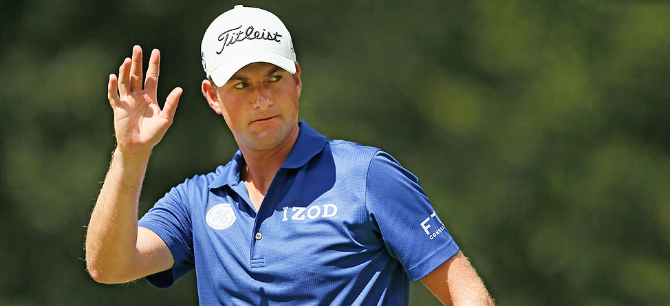 Webb Simpson 2014 Masters Scripting from IZOD Golf