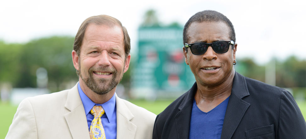 B9N's Ahmad Rashad Honorary Guest at Polo U.S. Open