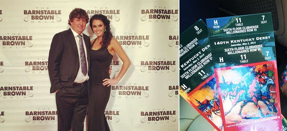 Jason and Amanda Dufner Attend Barnstable Gala, Kentucky Derby