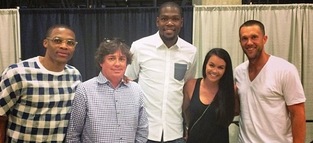 Kevin Durant Loves Him Some Dufner, Even After Blowout Loss