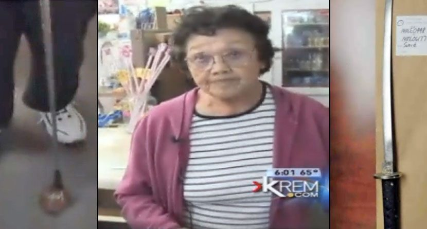 Elderly Woman Fights Off Sword-Swinging Robber with Golf Club