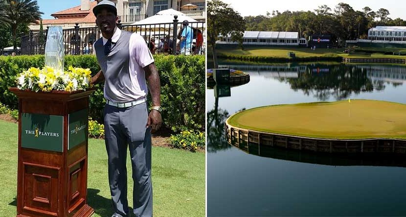 NBA's J.R. Smith Goes Inside Ropes at the Players Championship