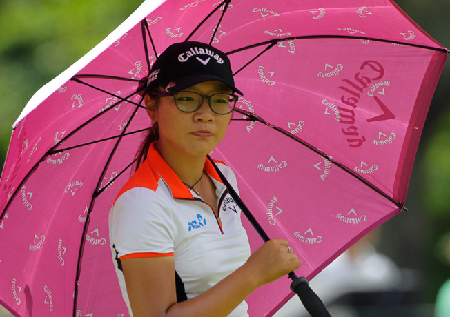 Lydia Ko waits to play during the Kingsmill Championship presented by JTBC on May 15, 2014 in Williamsburg, Virginia. (Photo by Hunter Martin/Getty Images)