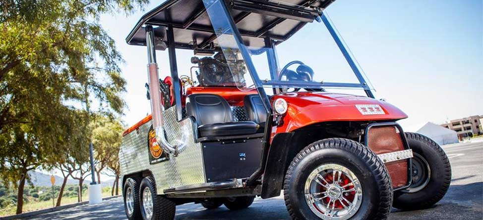 Frankencart: Four Old Golf Carts and a Pontiac
