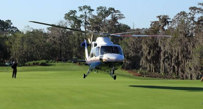 Helicopter Ball Drop Yields Two Holes-In-One