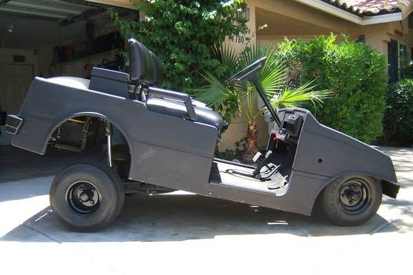 New Way to Ride: Custom Lowrider Golf Cart with Hydraulics ...