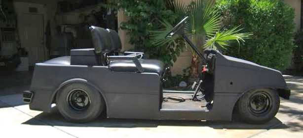 New Way to Ride: Custom Lowrider Golf Cart with Hydraulics