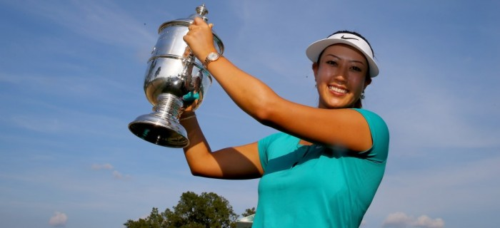 Michelle Wie trophy anchor