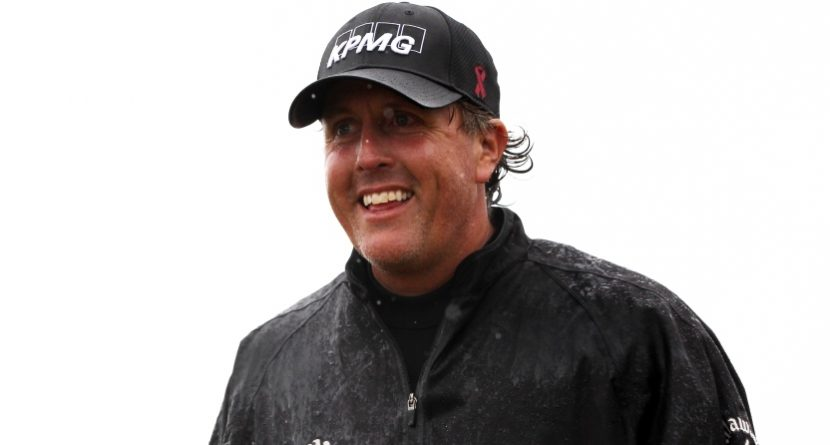 Phil Mickelson: 'I'll Probably End Up Winning My First Open' If It Rains