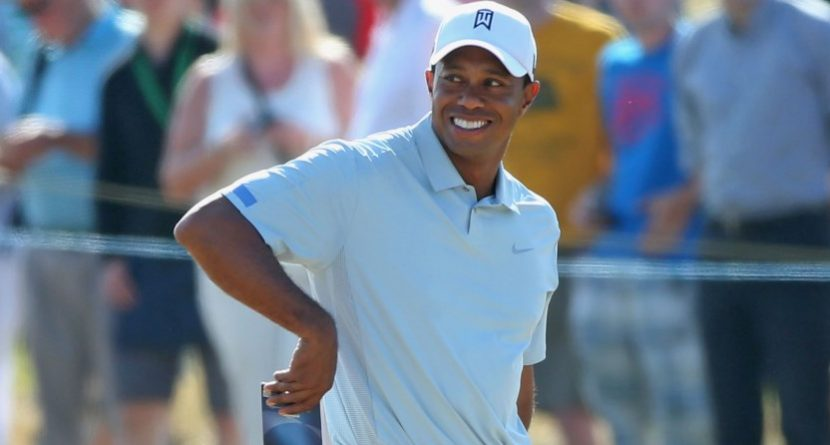 Watch Tiger Woods 'Shake It Off' And Dance At Augusta National