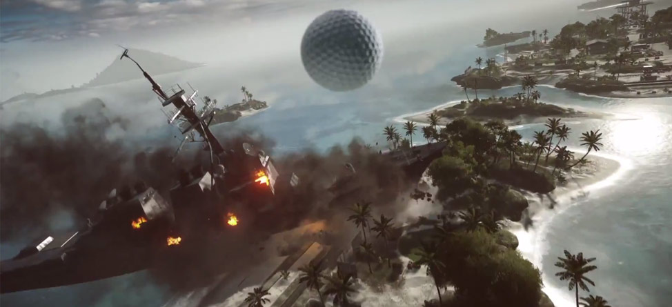 Hit Drives Over Battleships in 'EA Sports PGA Tour'