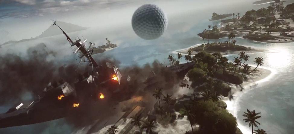 Hit Drives Over Battleships in 'EA Sports PGA Tour'
