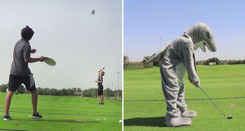 Epic Golf vs. Frisbee Trick Shot Battle