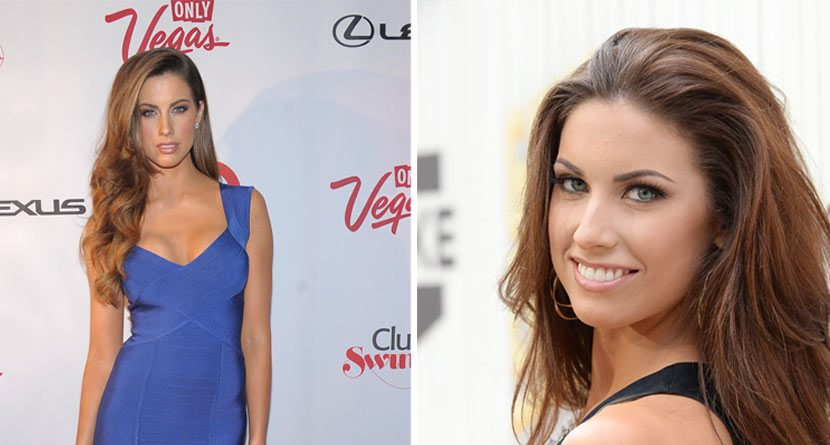 Katherine Webb Plays Golf with Tiger Woods… Sort Of