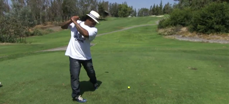 Marshawn Lynch Brings 'Beast Mode' to the Course