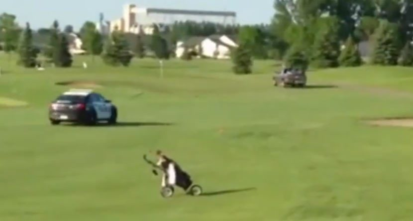 High-Speed Pursuit Blows Through North Dakota Golf Course