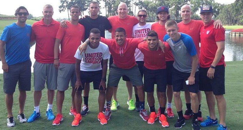 U.S. Men's Soccer Team Takes on 17th at TPC Sawgrass
