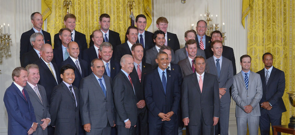 Presidential Night: Presidents Cup Squads Visit White House
