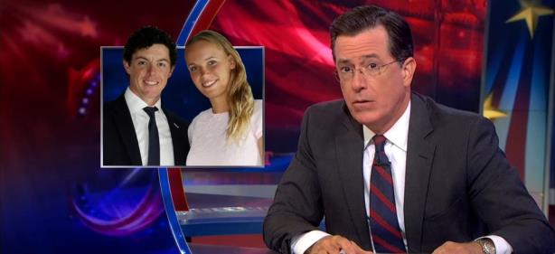 Stephen Colbert's Hilarious Take on Rory McIlroy, Caroline Wozniacki