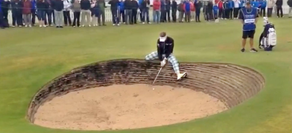It's A Trap! Ian Poulter Battles A Bunker