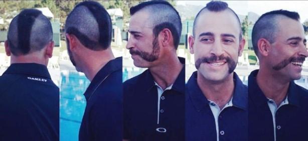 James Nitties Unveils Golf's Best Mustache Ever