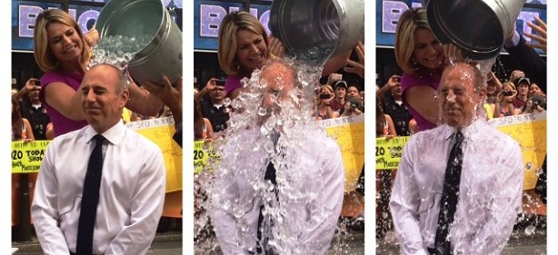 Ice Bucket Challenge Goes Mainstream on 'Today Show'