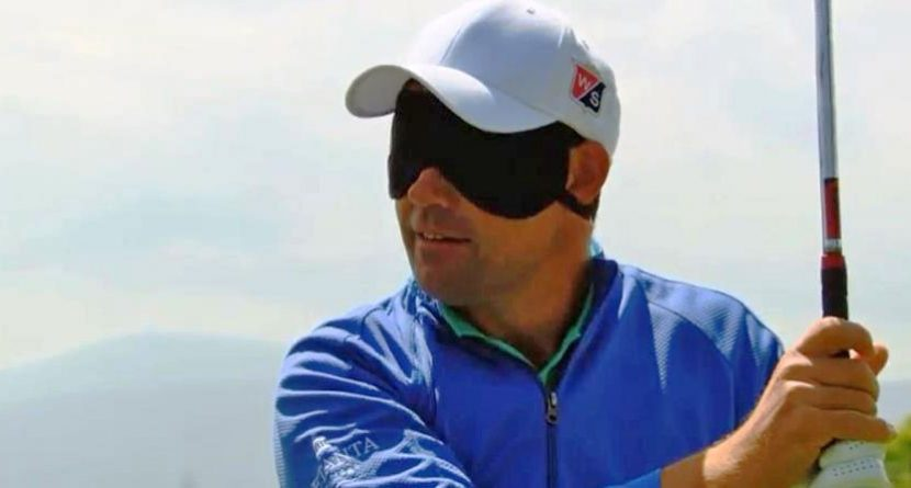 Must Watch: Padraig Harrington Holes Out While Blindfolded