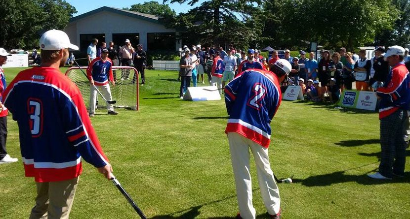 NHL Players Beat Golfers In Round 2 Of Ball Hockey
