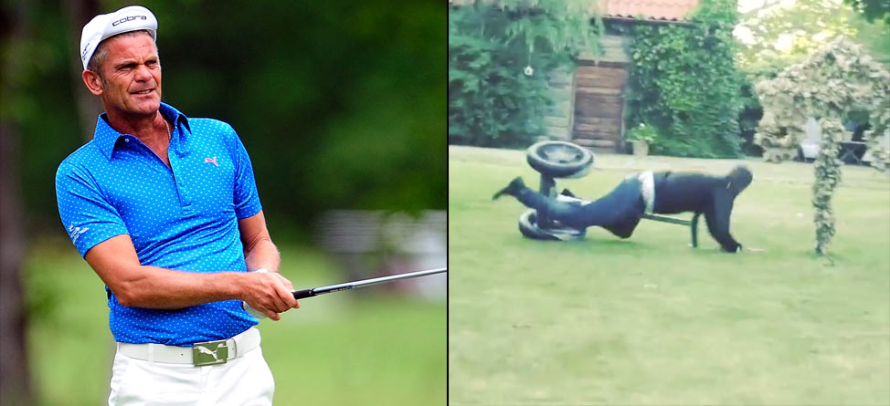 Parnevik Survives Mountain Climbing, Breaks Rib on a Segway