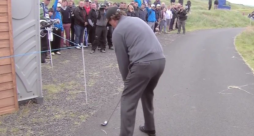 Shot of the Year? Phil Mickelson Birdies Off Cart Path