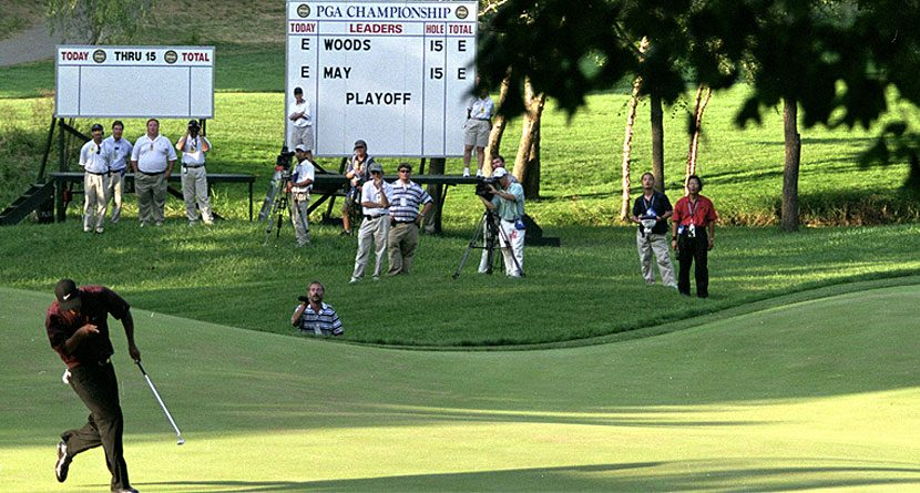 'Walk-In Putt' at Valhalla Just One Of Tiger's Famous 16th-Hole Shots